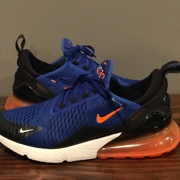 Nike Shoes Air Max 270 Blue And Orange Size 9 Poshmark